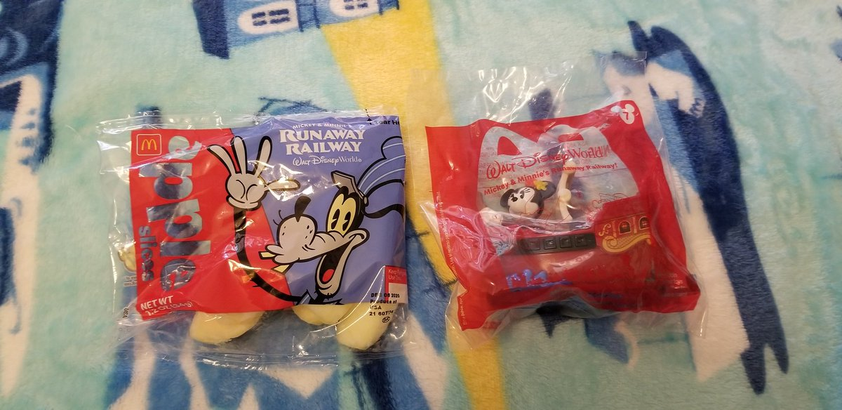 Guess What I Got From McDonald's Today! It's A McDonald's Happy Meal Featuring Mickey And Minnie's Runaway Railway At Walt Disney World! #McDonalds #HappyMeal #HappyMealToys  #MickeyAndMinniesRunawayRailway  #MouseRulesApply #MickeyMouseShorts #PaulRudish  #D23  #Disney