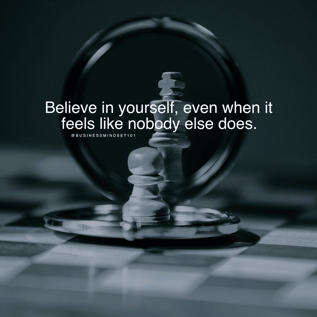 Believe in yourself... #ThinkBIGSundayWithMarsha #ThursdayThoughts #ThursdayMotivation #PositiveVibes #leadership #runningchronicles https://t.co/Dg7ChXoJui