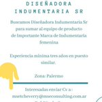 Image for the Tweet beginning: 👉Búsqueda  -Diseñadora de indumentaria SR. #LaBolsaPeroncha