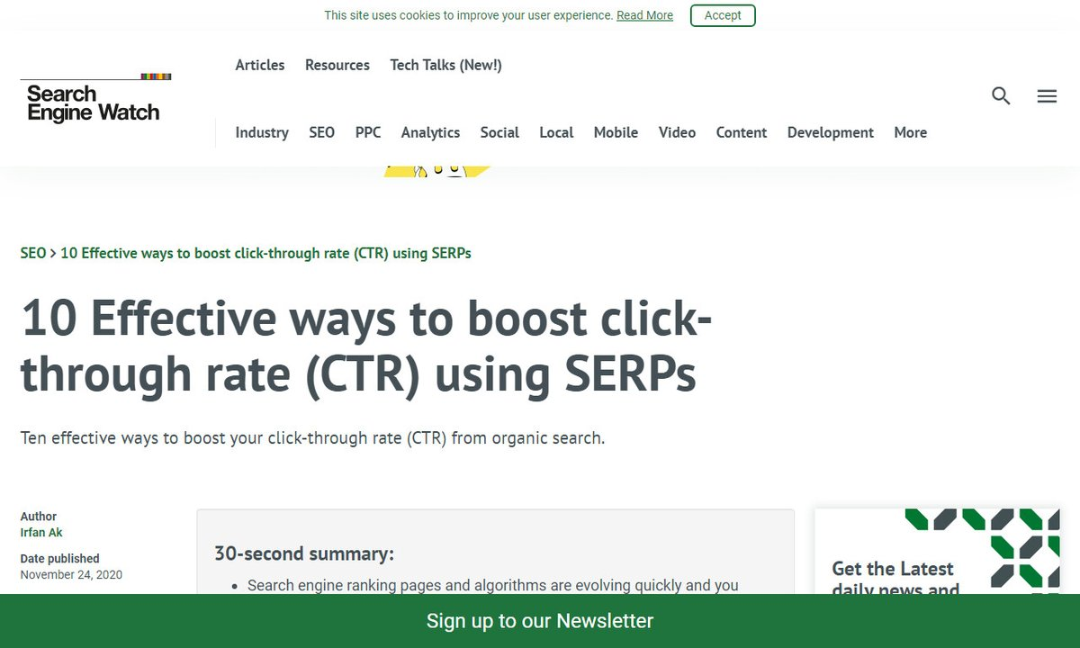 10 Effective ways to boost click-through rate (CTR) using SERPs #searchengines #business #snippets #position #videos #seo via  ☛