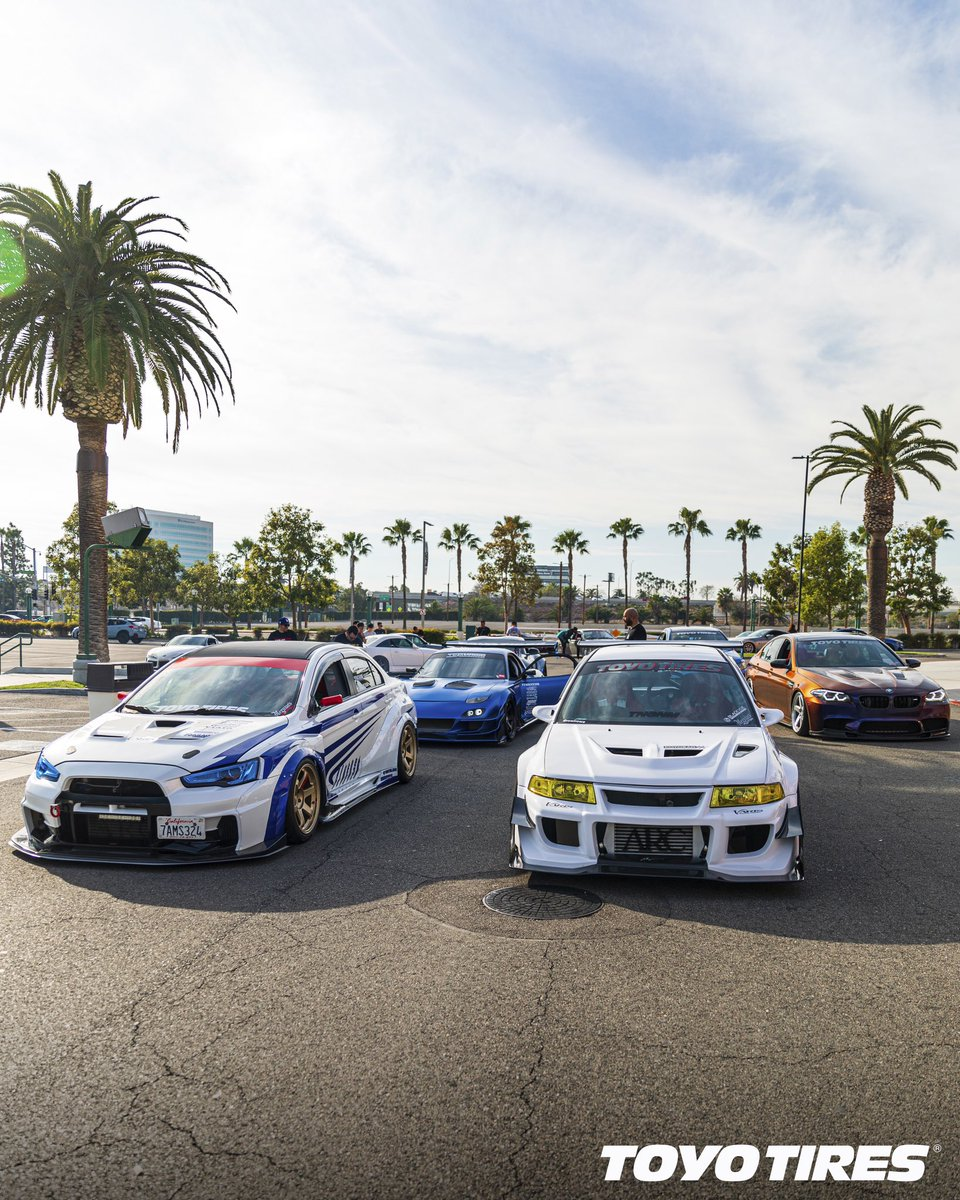 Name every car in this shot! / #TOYOTIRES / IG User: @rowirowe / @jgarage / @trmnl7 / @marv_m5 https://t.co/kGVWXLmlbF