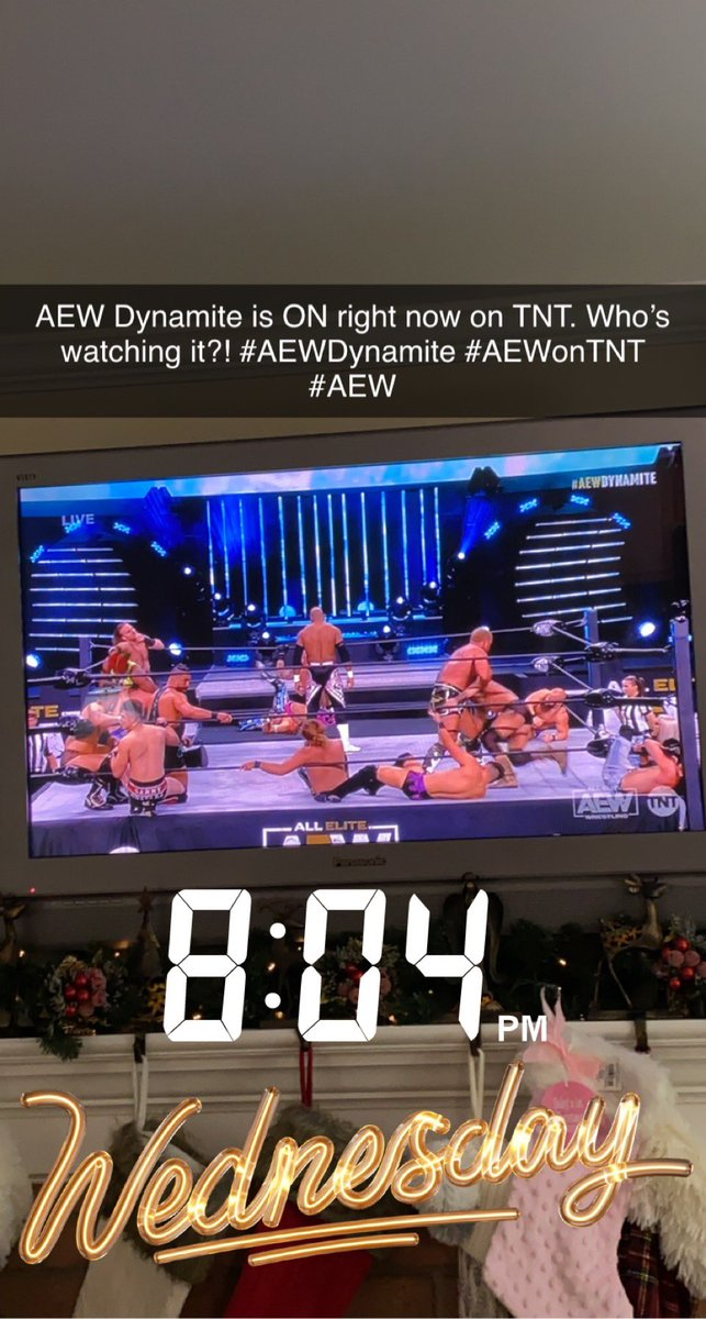 @AEW @AEWonTNT Who's watching this right now?! #AEWDynamite #AEWonTNT #AEW