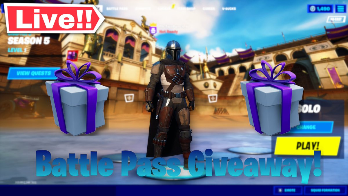 Fortnite Season 5 Stream Tonight! And Battle Pass Giveaways this weekend! Come follow me on Twitch! #twitch #streamer #supportsmallstreamers #youtube #giveaway #season5 #fortnite https://t.co/1GgOpt4ydt