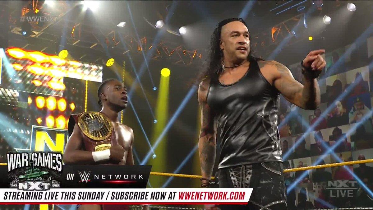 بطل أمريكا الشمالية ليون راف وداميان بريست يتحالفان وينتصران قبل أن يتواجها وجوني جارجانو في #NXTTakeOver وور جيمز!  @LEONRUFF_ @ArcherOfInfamy @JohnnyGargano #WWENXT