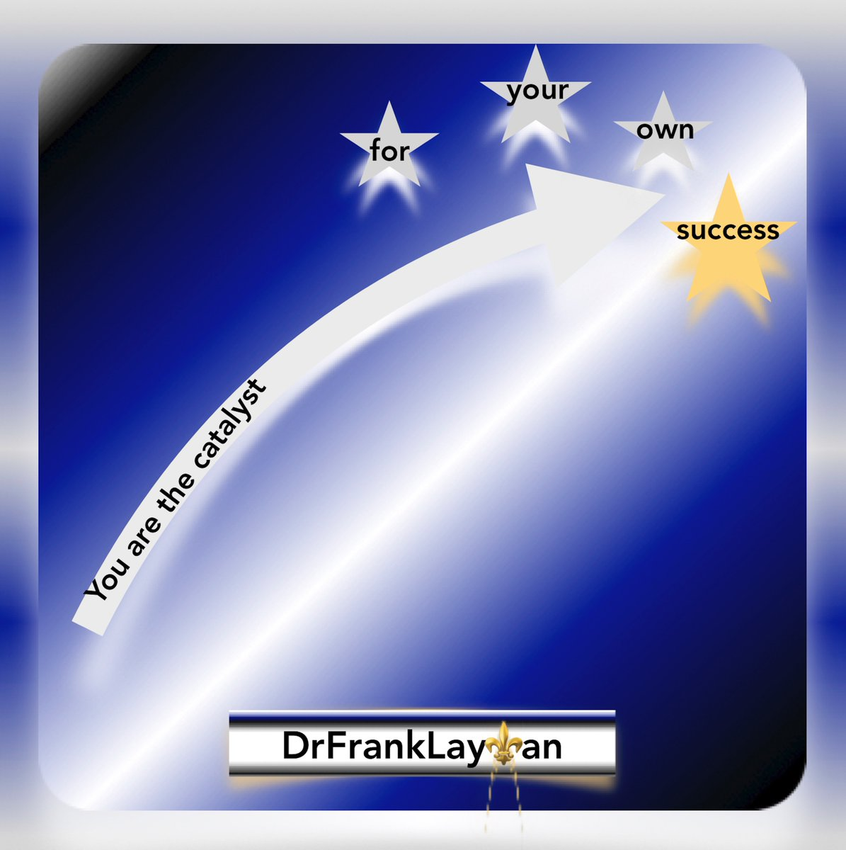 You are the Catalyst for your Own Success. #DrFrankLayman  #success #inspiration #author #writerslife #books #selfhelp #positivemindset #growthmindset  #Read https://t.co/KIgaS20ig7  https://t.co/IY9krUkjp4 https://t.co/dGiIsvbwVl