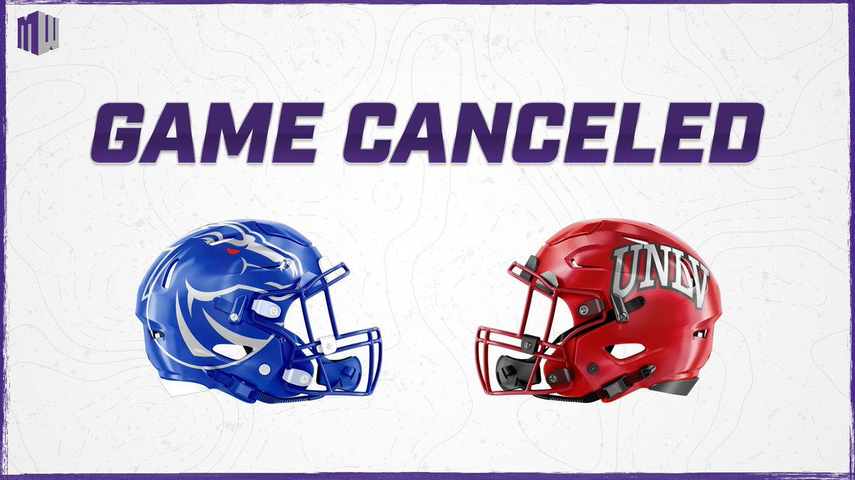 Statement from UNLV, Boise State and MW  Based on guidance from medical personnel and epidemiologists, Friday's game has been canceled and will not be rescheduled. Both medical teams have been in communication in order to understand the full picture of COVID issues in our region