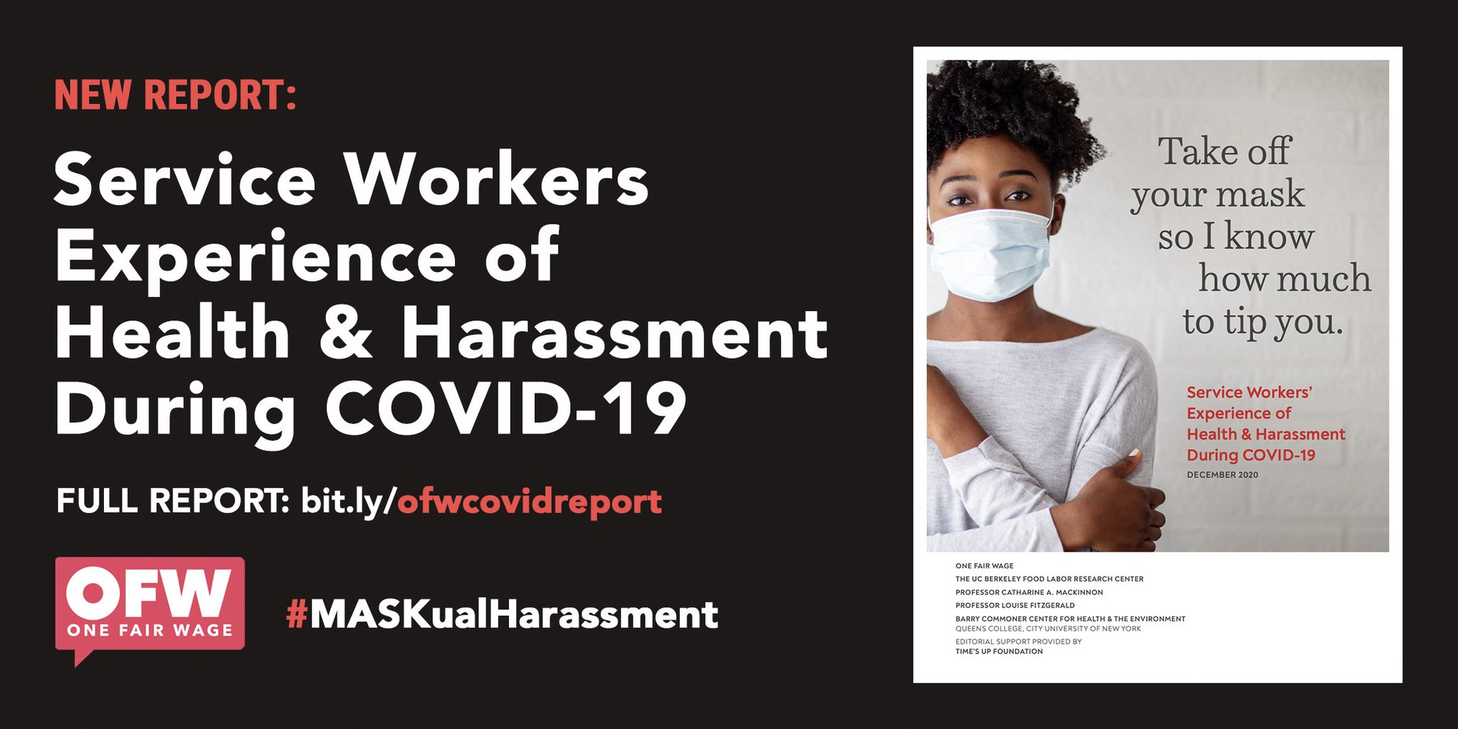 Saru Jayaraman On Twitter Today Onefairwage Released Our Latest Report Service Workers Experience Of Health Harassment During Covid 19 Our Report Closely Examines Several Life Threatening Circumstances That Our Service Workers Are Exposed