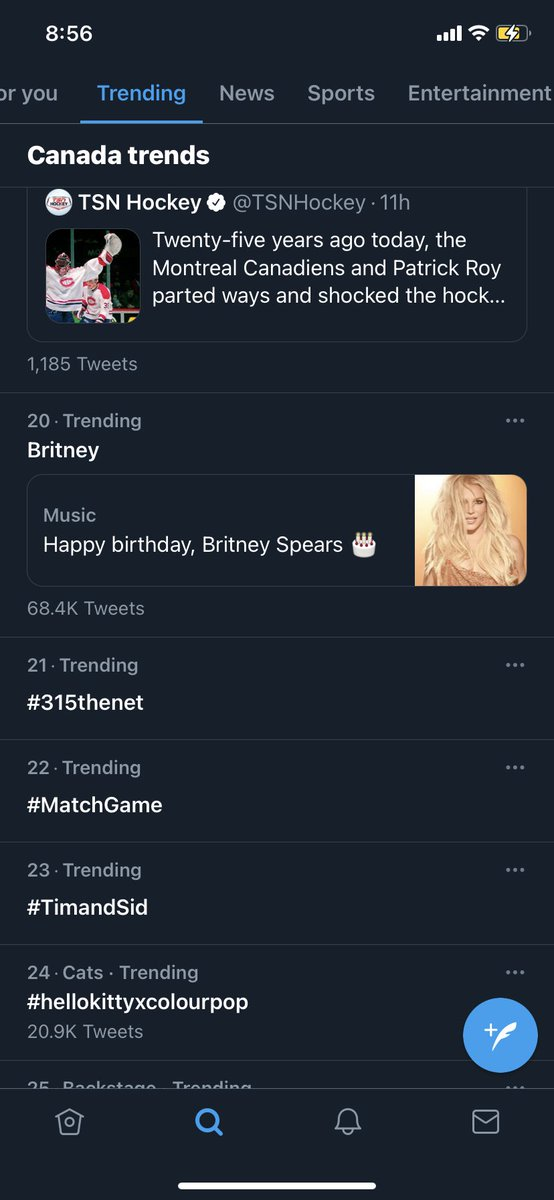 Go #315thenet ! We made it to 21 on trending #ccom315