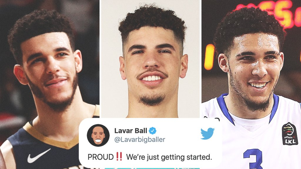 .@Lavarbigballer is proud after all three of his boys have made it to the NBA.   @ZO2_ | @MELOD1P | @LiAngeloBall https://t.co/iMt2pdYkVK