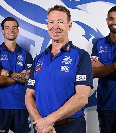 So the North Melbourne Kangaroos have somehow spliced the DNA of Craig Bellamy & Trent Robinson and called it the 'David Noble' 😮 https://t.co/wb2n0Xpe54