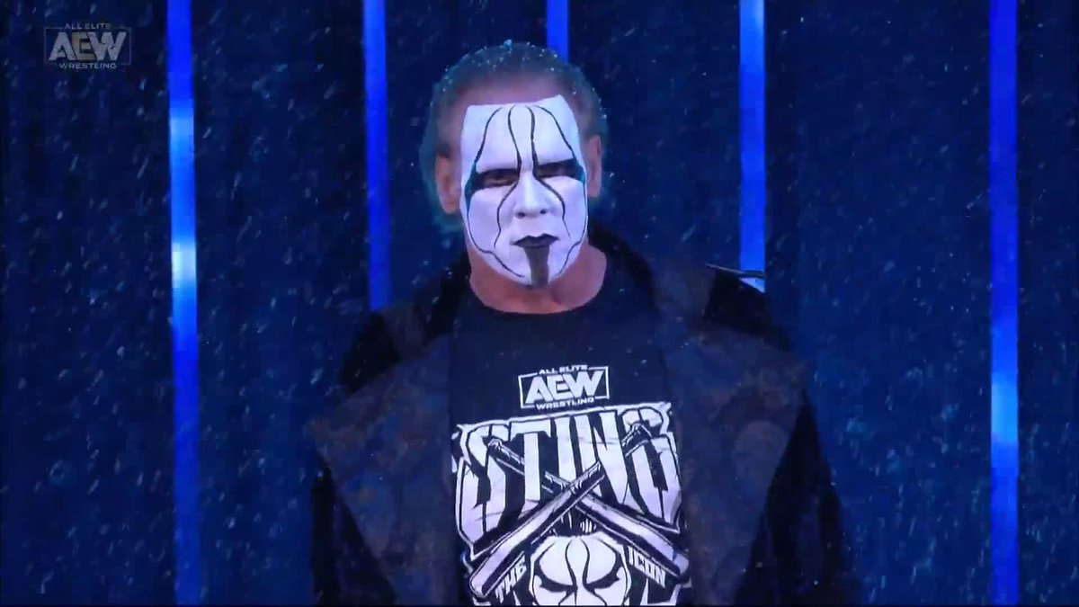 .@STING HAS ARRIVED IN ALL ELITE WRESTLING!  Watch #AEWDynamite NOW on @TNTDrama https://t.co/NMLGKqdQtX