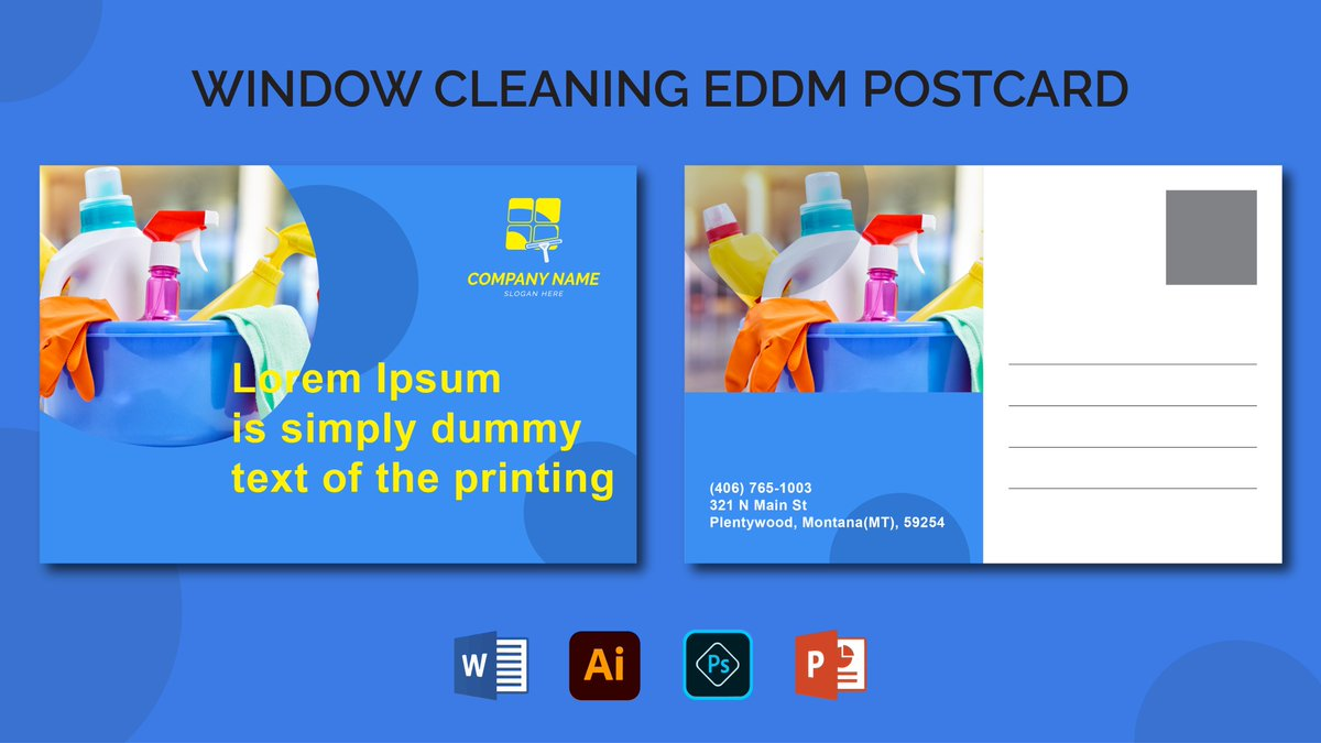 Looking for a Window Cleaning EDDM #Postcard for your business?  Just order on   #post #happymail #RHOSLC #stamps #IDPWD #postcard #AEWDynamite #directswap #Argos #thursdaymorning #art #mail #jamaicablue #businesscards #illustration #cards #greetingcards