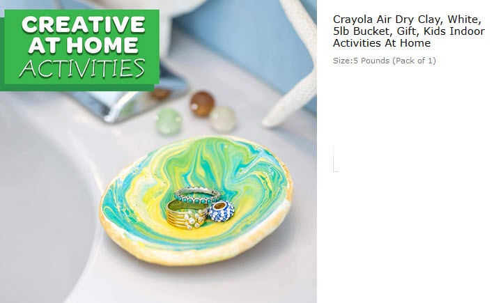 #stayathome #activities #kids   Crayola Air Dry Clay, White, 5lb Bucket, Gift, Kids Indoor Activities At Home  https://t.co/QFaFru4So6 https://t.co/rVTdpA18NG