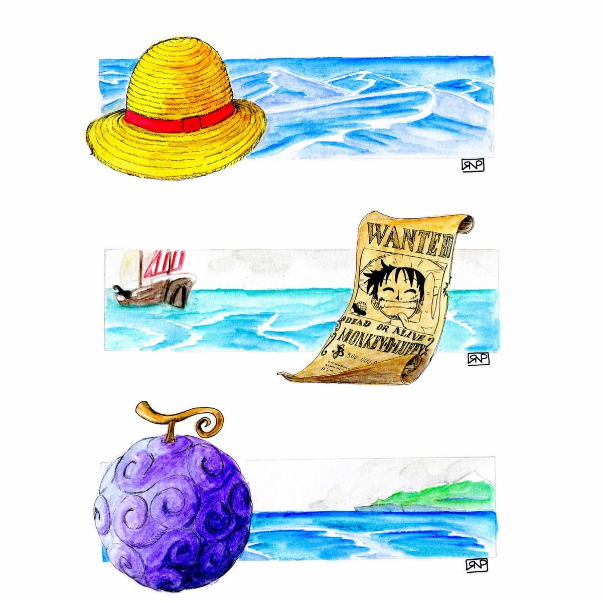 🏴☠️ One Piece Collection #onepiece #luffy #onepiecefans #zoro #onepieceworld #ilustracion #pirates #onepiecefan #strawhat #wanted #design #illustration  #fineart #handmade #fanart #dibuix #dibujo #acuarela #watercolor #tinta #ink #drawing #sketch #arte #art #draw #artist