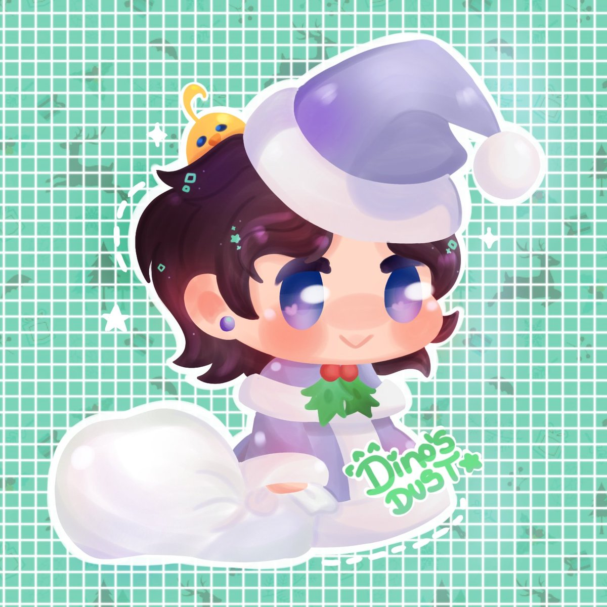 Hiiii💚  I am making padorus commissions like this for $4.50 and sketch with 1 color for $2.30👀🌈 very nice and cute u,w,u  🌸 You help me a lot if you share to reach more people 🌸  #padoru #digitalart #chibiart #chibi  #commissionsopen #drawing #colorart #Navidad #Christmas