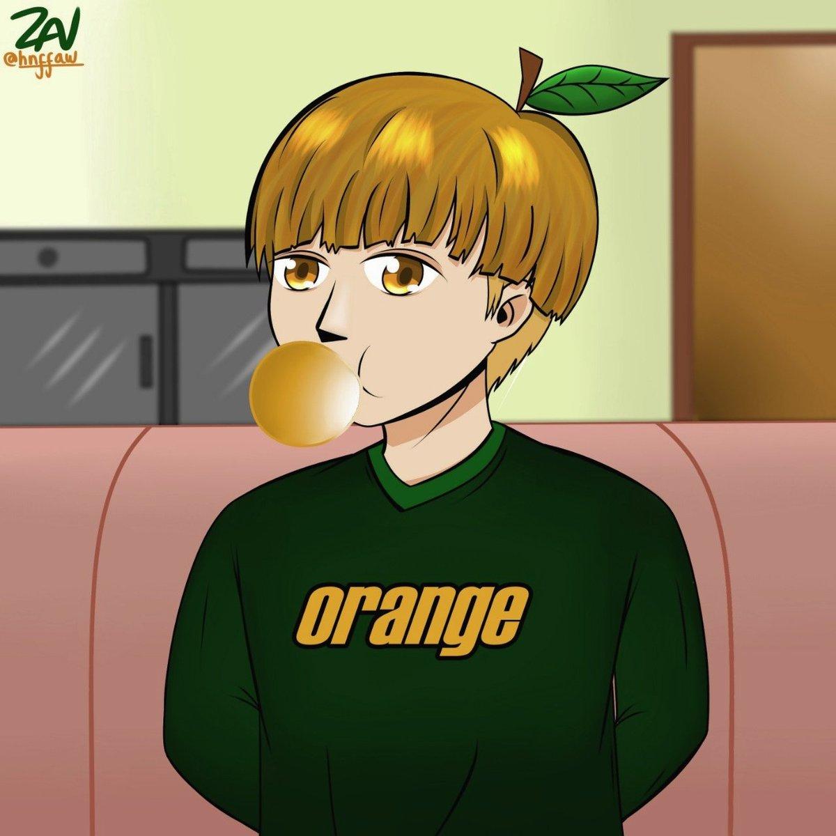 Orange-kun (Blum ada nama...) #oc #drawing #FANART
