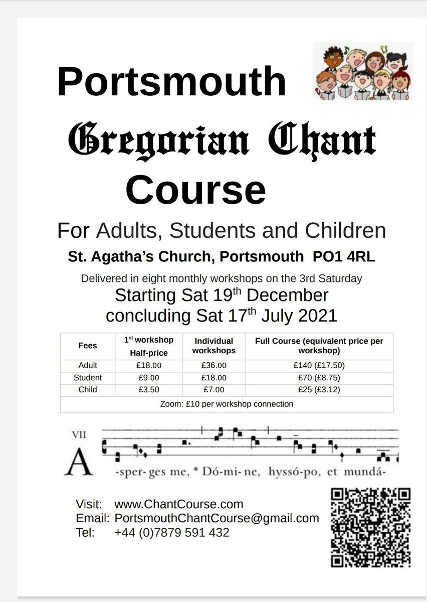 Delighted Portsmouth Chant Course directed by Schola Gregoriana music director Iain Simcock @SimcockIain Iain has enticing programme 4 beginners & experienced singers Join Sat 19Dec https://t.co/qcjDNOzD6N RT #chant #portsmouth #choir #education #meditation #voice #Singing #group https://t.co/ZLxE9XLd1V