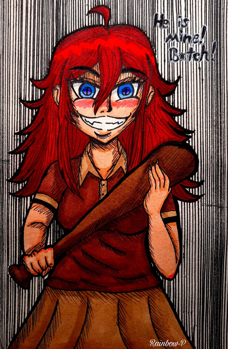 Ella es Naoki, se puede decir que es la #Oc que más me representa xd #illustration #drawing #originalcharacter #traditionalart