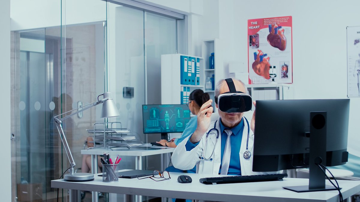 #HealthIT #MedTech  ⚕️ How can #VR be used to improve efficiency in the #Healthcare sector?  🟣 #VirtualReality - #VR 🟣 #AugmentedRealtiy - #AR 🟣 #MixedReality - #MR  🖥️ https://t.co/DTwvRiJkYi  @TechNative @TechNativeWire  @HubBucket @ProsumerSoft  @HubIoMT @HubBucketEdge https://t.co/mv8BXpiPR7