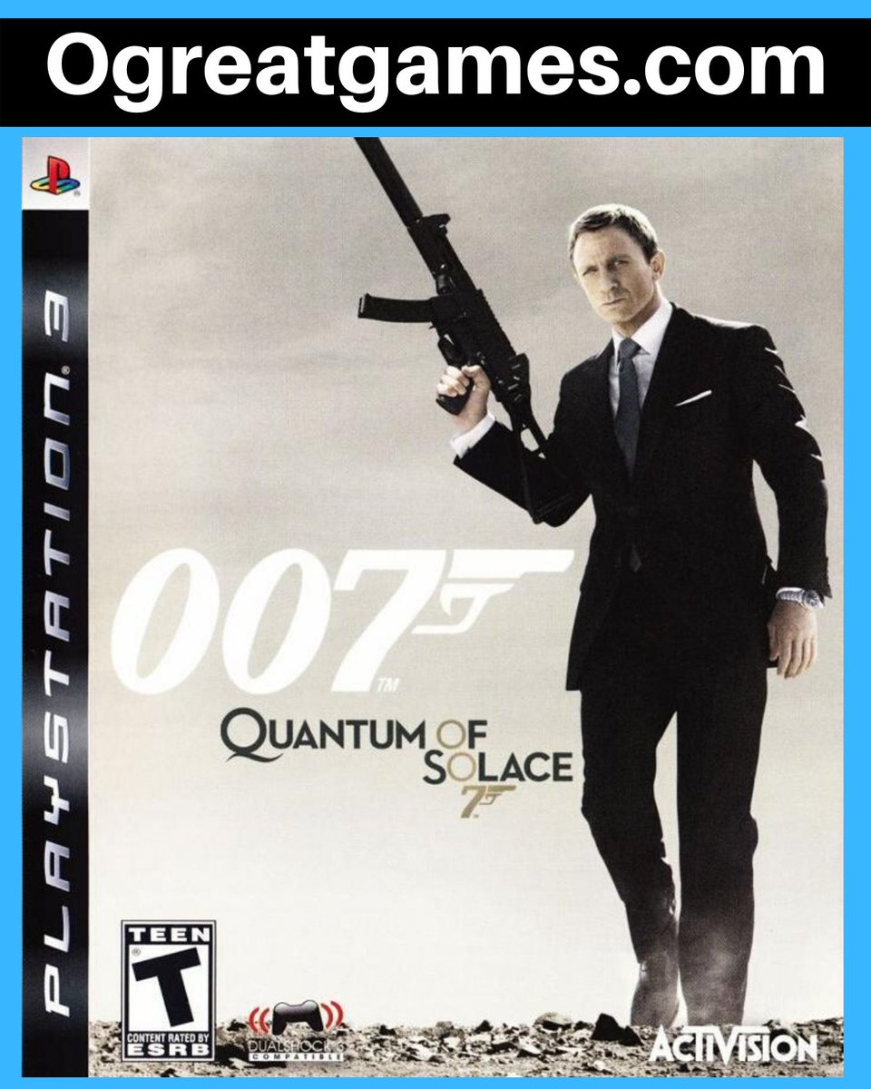 RT if you have ever heard of 007 Quantum of Solace! https://t.co/dWBjnXm3AZ #gaming #rt #games #videogamer #playstation3 https://t.co/aaviXhhk0M