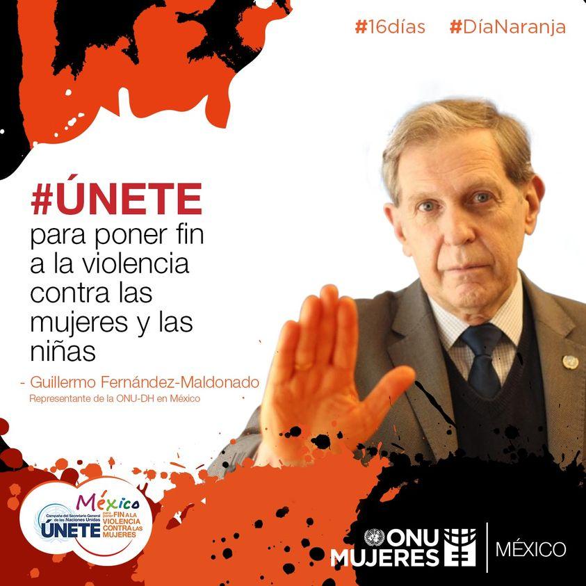 Las y los representantes de las Naciones Unidas en México se suman a los #16Días de activismo contra la violencia hacia las mujeres. #DíaNaranja #Únete @ONUDHmexico
