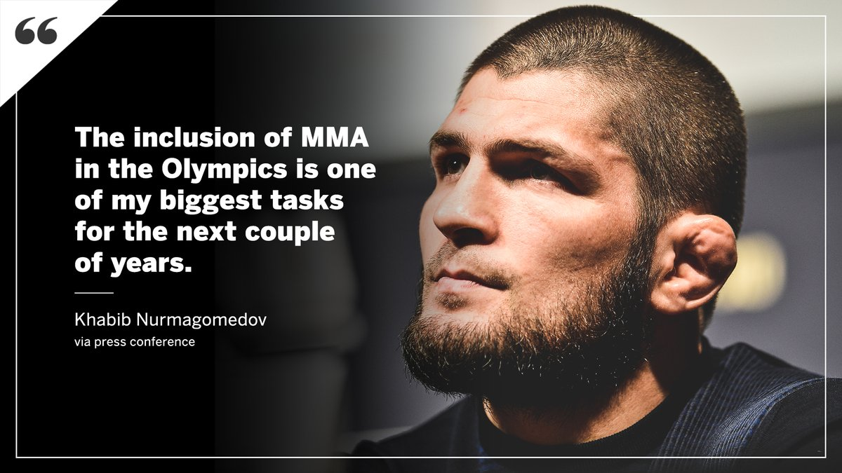 Khabib is focused on making MMA an Olympic sport.  More from @marc_raimondi 📰