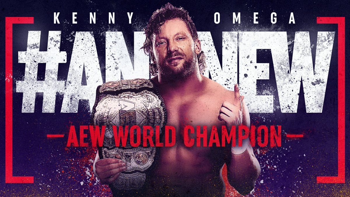 #ANDNEW #AEW World Champion The Cleaner @KennyOmegamanX