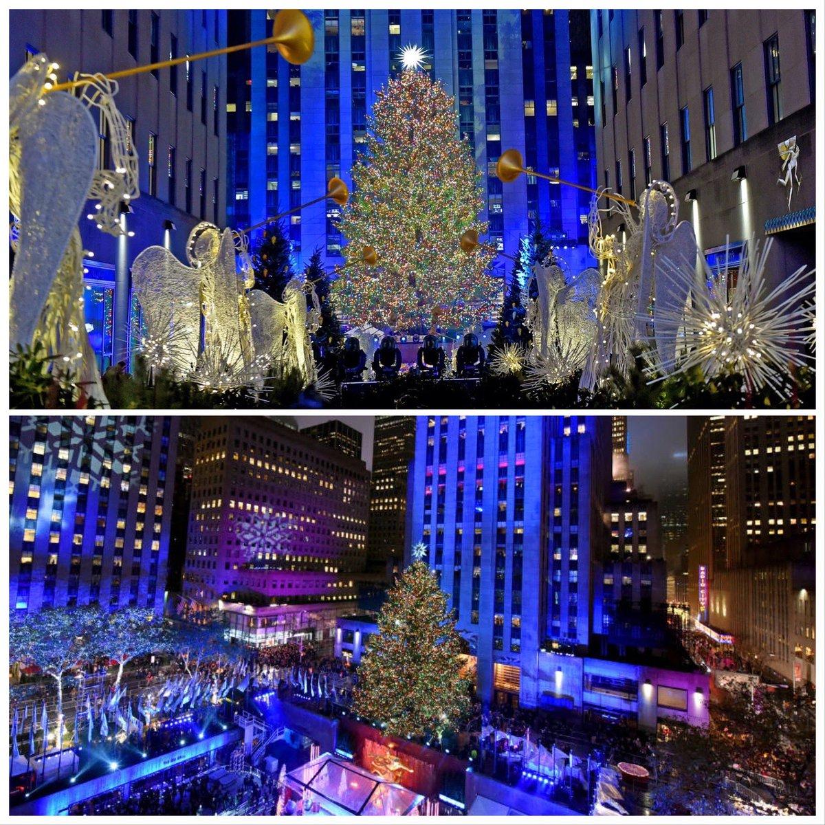 The Iconic Rockefeller Center Christmas tree is lit.. #Itsbeginningtolookalotlikechristmas #RockCenterXMAS #RockefellerChristmasTree #rockefellerchristmastreelighting2020🌲
