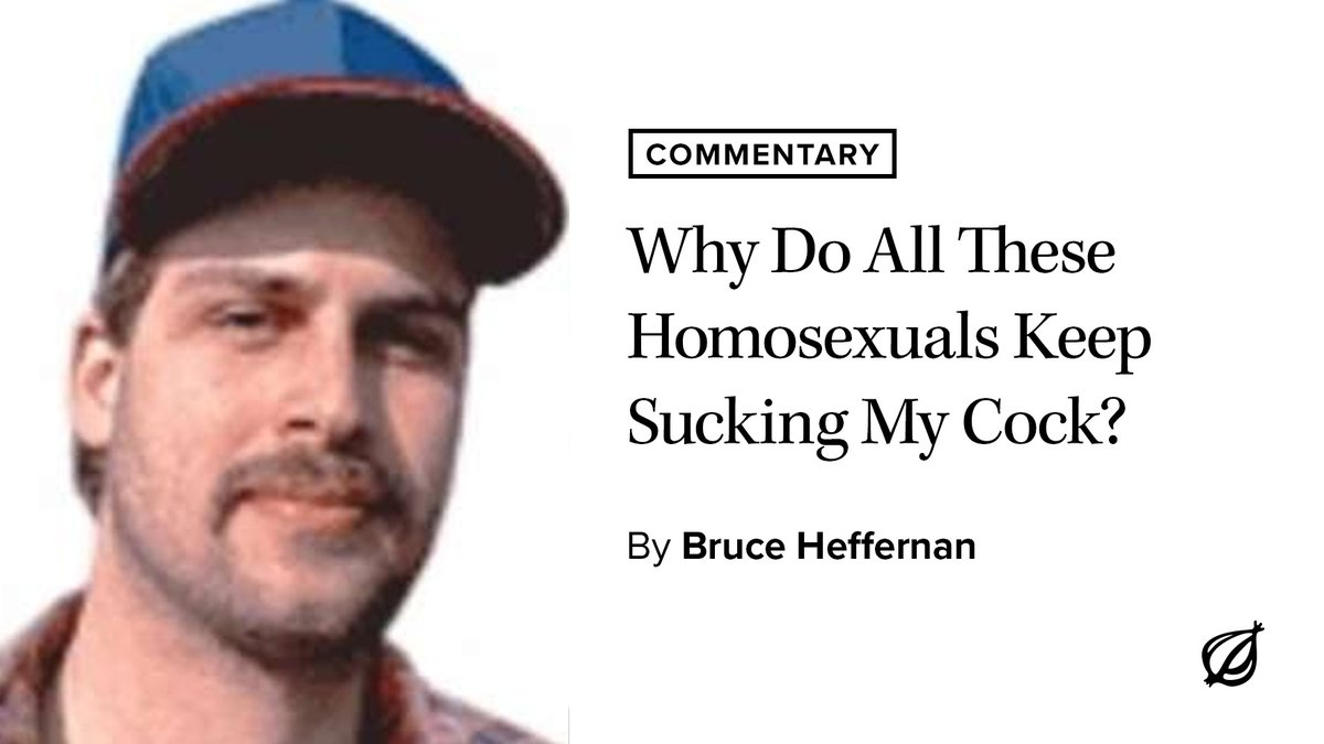 Why Do All These Homosexuals Keep Sucking My Cock?