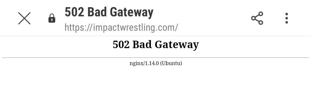 I can't get @IMPACTWRESTLING website to load! Are their servers overloaded now after the @AEW #AEWDynamite finale?