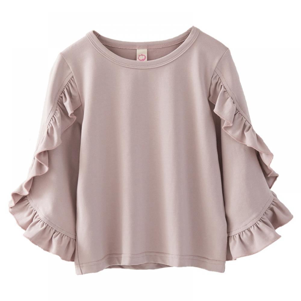 #igers #tagsforlikes Elegant Girl`s Long Sleeve Ruche Shirt