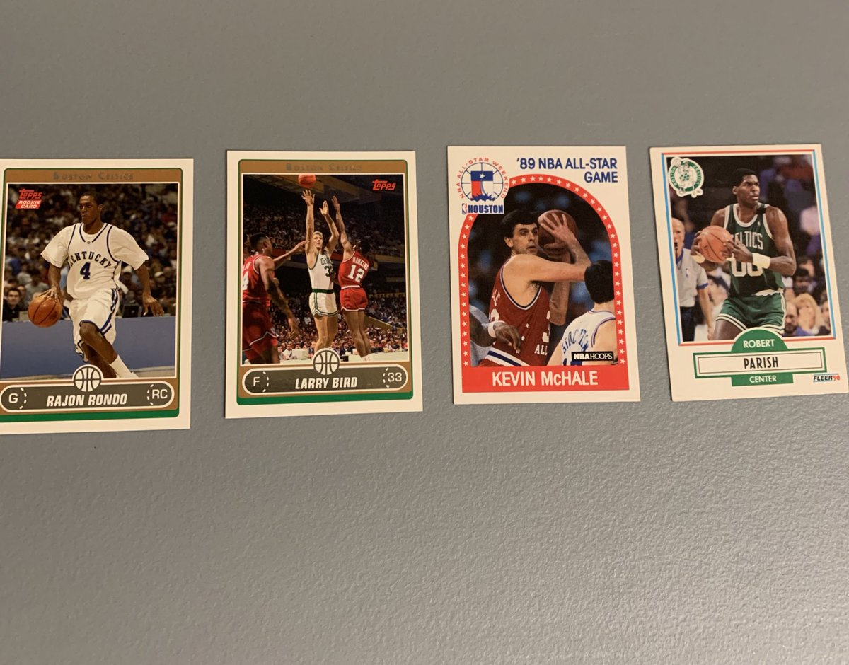 Celtics lot  - Rajon Rondo rookie card - Larry Bird - Kevin McHale - Robert Parish https://t.co/TdKCUR829C