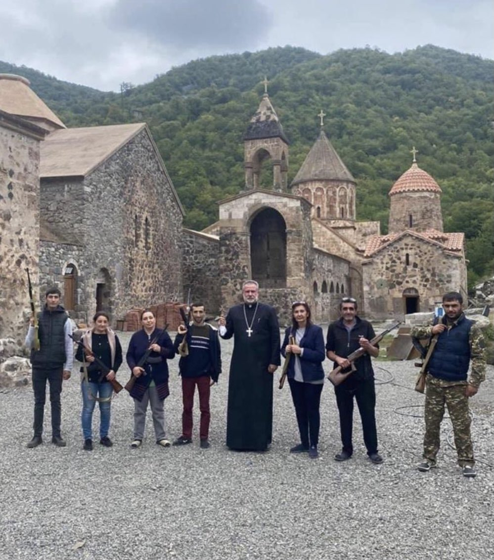 Imagine what would be reaction of @EmmanuelMacron or other 'leaders of Christian world' if photo is taken against the Mosque and not the Church. #StopArmenianTerrorism https://t.co/nQz6GMW5KV