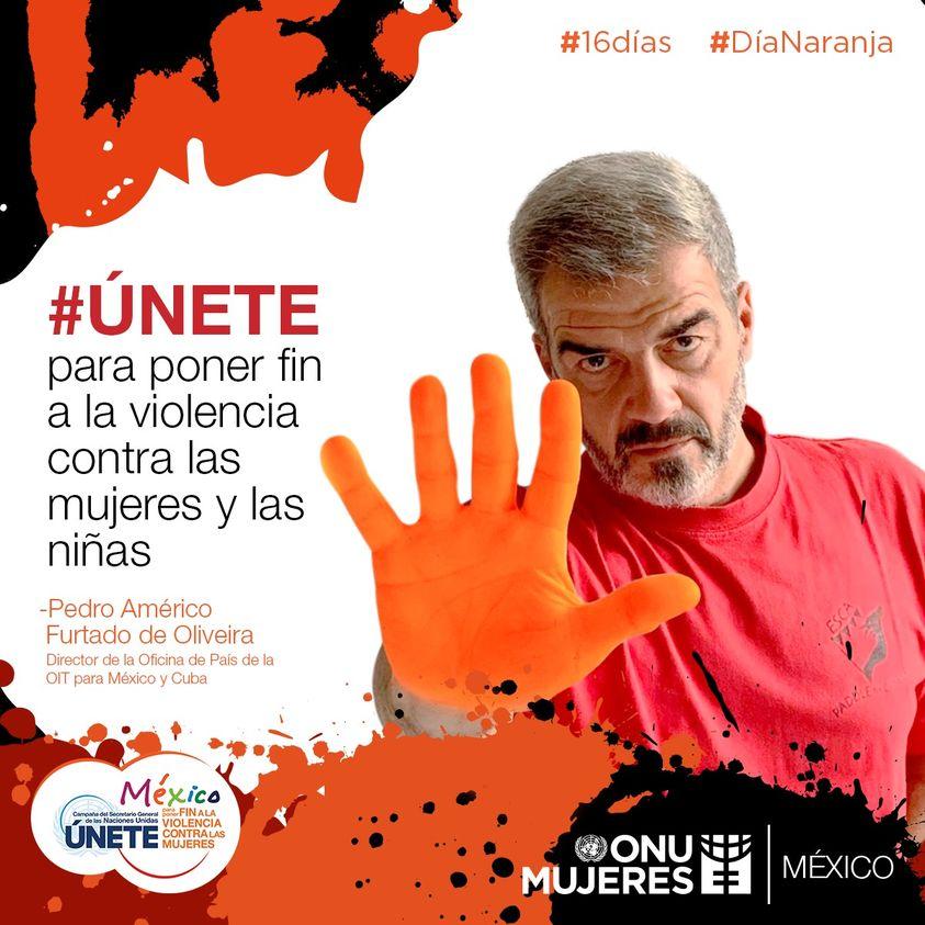 Representantes de Naciones Unidas se unen a la conmemoración de los #16Días de activismo. #Únete #DíaNaranja @OITMexico