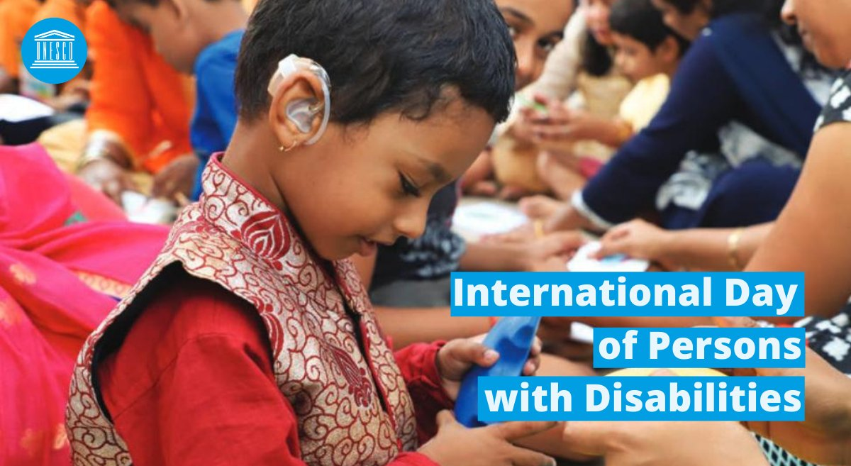 Today is International Day of Persons with Disabilities.  Let's empower every woman and man to become everything they wish, regardless of disabilities.  Share your story and enable your rights!   #IDPD