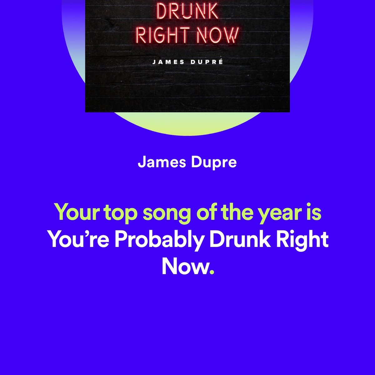 Not exactly sure what that says about my year...(proves I know a good song when I hear one though!)