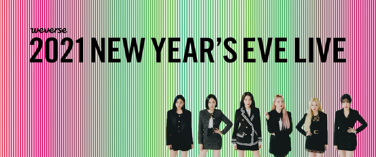 ͔¼ì¹´ On Twitter Gfrdofficial On The 2021 New Years Eve Live Presented By Weverse Poster 2021nyel Weve Connected Gfriend