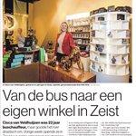 Ook in #ADUN: Cisca van Veldhuijzen gooide het roer radicaal om. Ze was buschauffeur, maar runt nu haar eigen winkel in het centrum van Zeist
