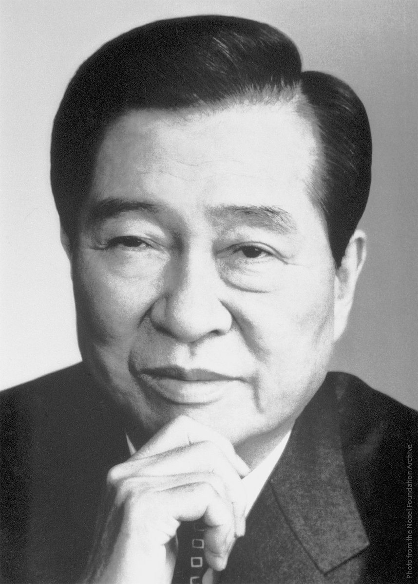"""Remembering the only Korean who has been awarded a #NobelPrize, Kim Dae-Jung, the 15th president of South Korea.  Sometimes referred to as """"Nelson Mandela of South Korea"""". Kim dedicated his life to working for democracy and human rights in the country."""