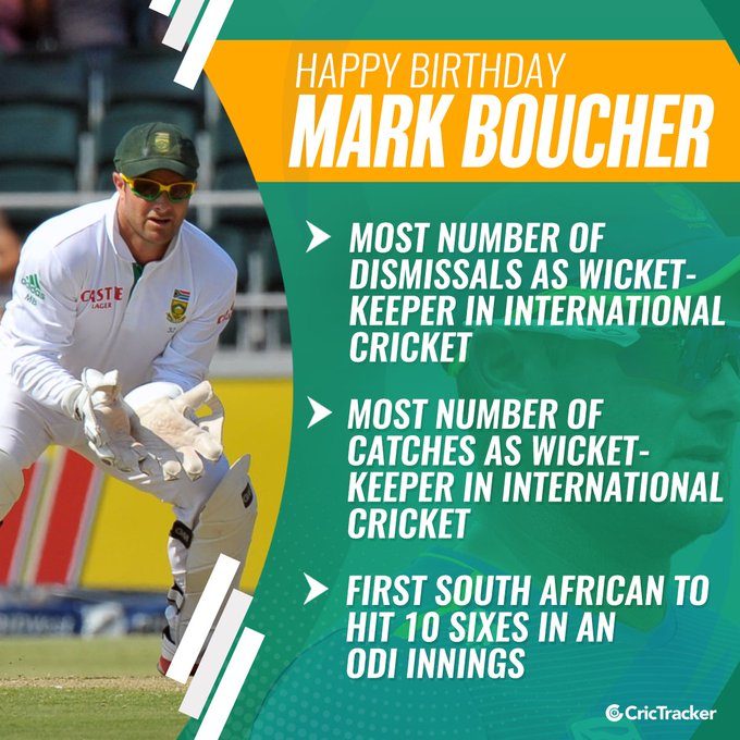 Wishing former South African cricketer Mark Boucher a very happy birthday.