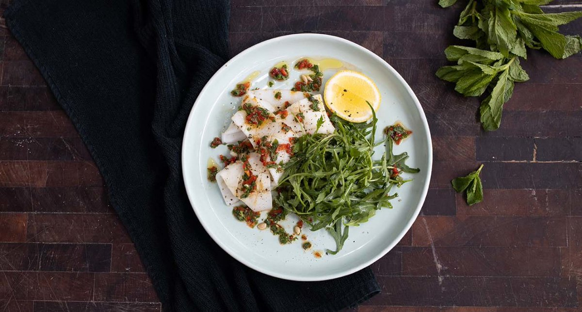 Add a taste of the sea to your summer plate with this BBQ Squid with Chilli Mint Dressing recipe,   #bbq #squid #cooking #chef #cook #summer #recipe