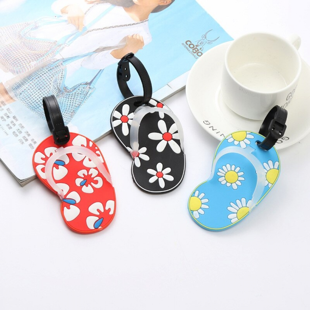 #summer #adventure Silicone Slippers Luggage Tag