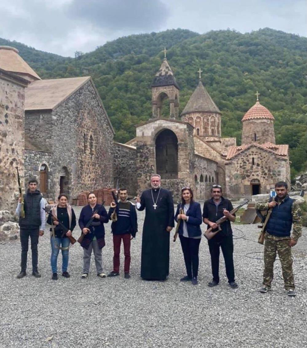 Imagine what would be reaction of @EmmanuelMacron or other 'leaders of Christian world' if photo is taken against the Mosque and not the Church. #StopArmenianTerrorism https://t.co/tDqqhwf7r9