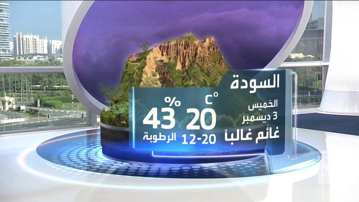 أجواء غائمة وممطرة أحيانًا ودرجات الحرارة في العشرينيات ونسبة الرطوبة تزيد على 40% مع رياح متوسطة.. تعرف على طقس #السودة #العربية