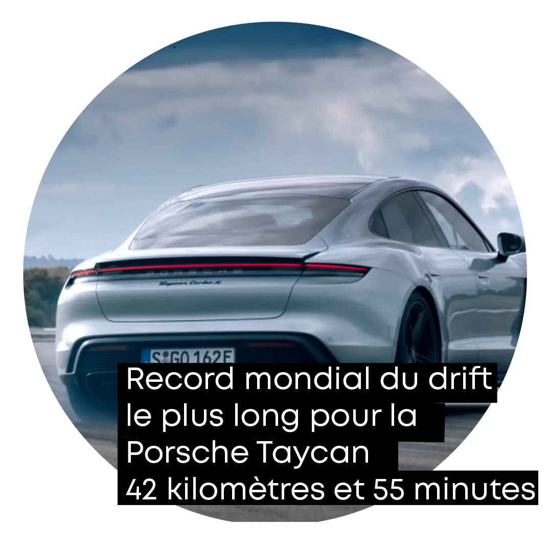Qui a dit qu'électrique ne pouvait rimer avec plaisir ?   Record anecdotique mais record quand même pour la Porsche Taycan dans sa version propulsion.   #greenspot #porsche #taycan #drift https://t.co/c4sKamm9jA