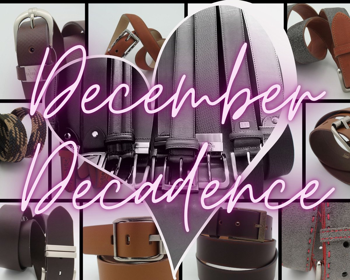 What better way to spoil yourself than with a Genuine Leather Belt! December Decadence... luxurious self-indulgence starts now.    #december #ordernow #onlineshopping #festivevibes #decadence #supportlocal #SaddlerBelts