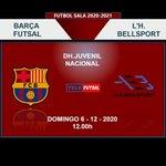 Image for the Tweet beginning: BARÇA FUTSAL vs L'H Bellsport