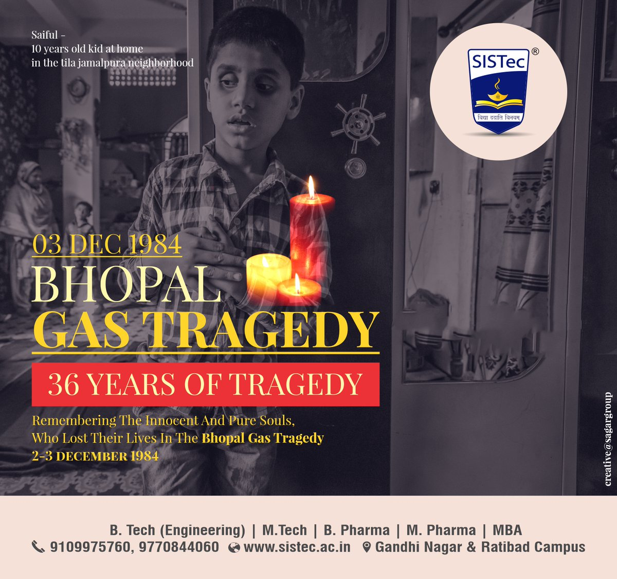 Let us come together to pay #tribute to those who lost their family and friends in Bhopal Gas Tragedy...!!!🙏   #BhopalGasTragedy #BhopalDisaster #Disaster #Bhopal  #JusticeforBhopal #BhopalGasTragedy2020 #bhfyp  🌐 Website: https://t.co/SEDF8Wg8Qw https://t.co/7rBkwzrkCa