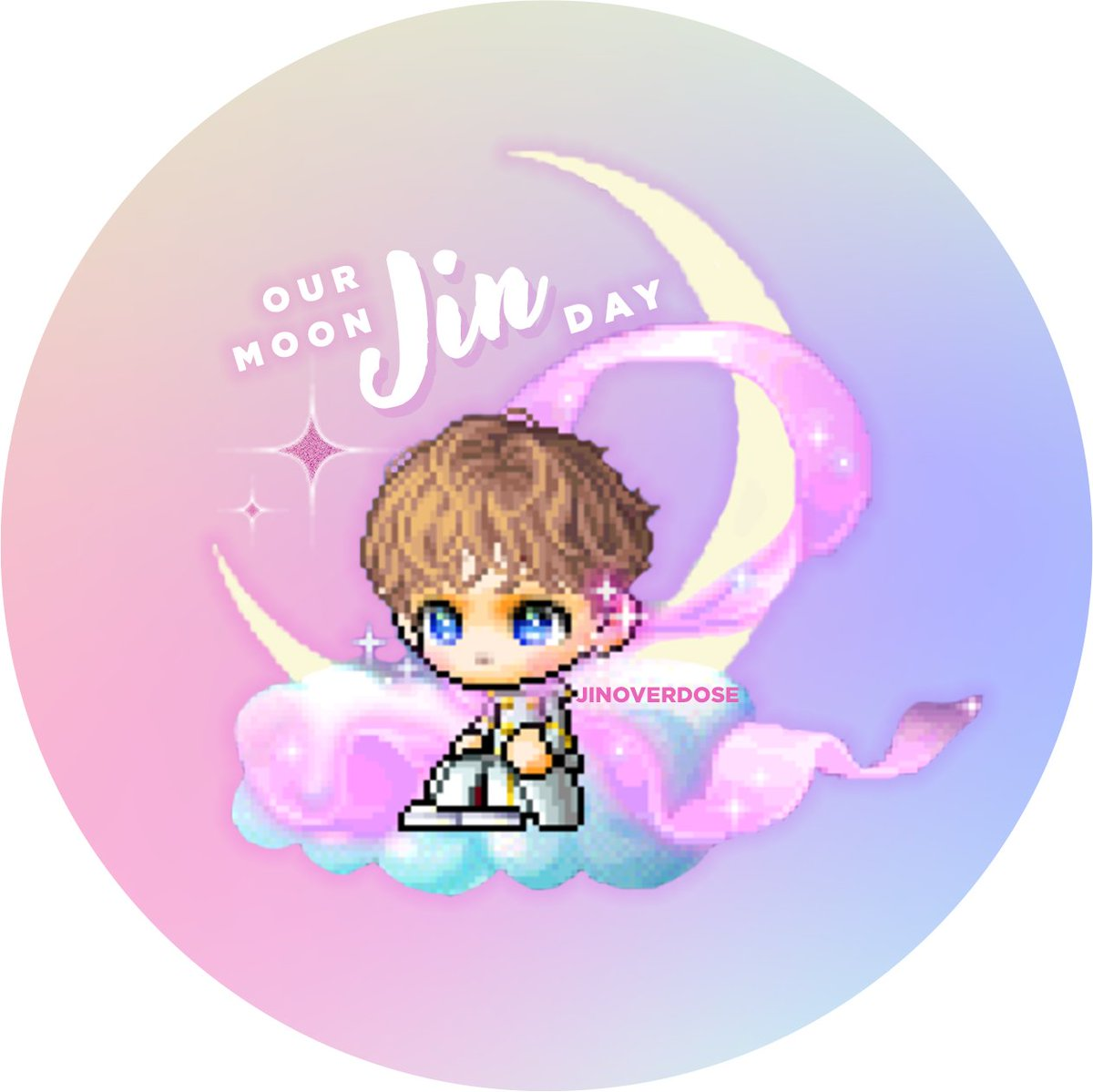 Thank you for this layout for our moon Jin Day!!🤗💜 Credits: @/jinoverdose #MaplestoryForJin