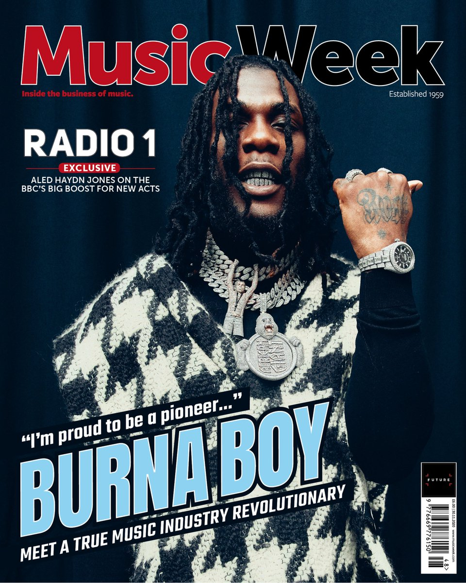 . @burnaboy is on the cover of the new @MusicWeek. We spoke about his life as a revolutionary and loads more. This one is massive, thanks to @SpaceshipCollec, @EbiSampson + everyone involved. Out now! #Burnaboy #TwiceAsTall